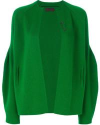 Cárdigan abierto verde de Oyuna
