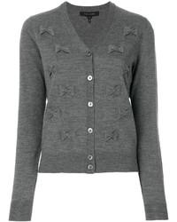 Cárdigan bordado gris de Marc Jacobs
