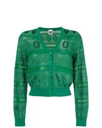 Cárdigan bordado verde de M Missoni