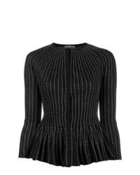 Cárdigan con adornos negro de Alexander McQueen