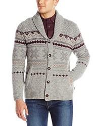 Cardigan con cuello chal de grecas alpinos original 2472422