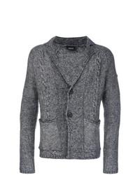 Cárdigan con cuello chal gris de Armani Jeans