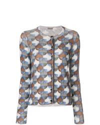 Cárdigan con estampado geométrico en multicolor de Bottega Veneta