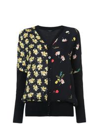 Cárdigan con print de flores negro de Derek Lam