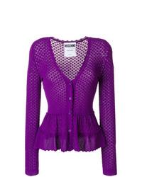 Cárdigan de punto en violeta de Moschino
