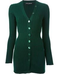 Cárdigan de punto verde oscuro de Dolce & Gabbana