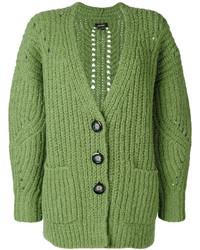 Cárdigan de punto verde de Isabel Marant