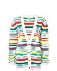 Cárdigan de rayas horizontales en multicolor de Loewe