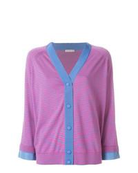Cárdigan de rayas horizontales rosa de Moncler