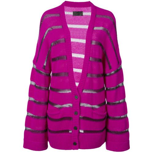 Cárdigan de rayas horizontales rosa de RtA
