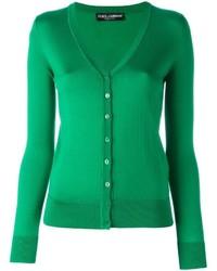 Cárdigan de seda verde de Dolce & Gabbana