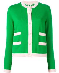 Cárdigan de seda verde de Tory Burch