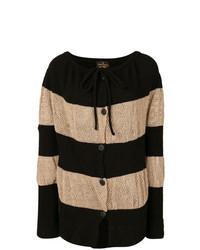 Cárdigan en negro y marrón claro de Vivienne Westwood Anglomania