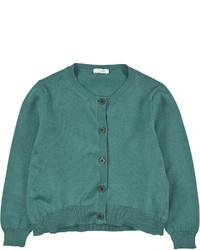 Cárdigan en verde azulado