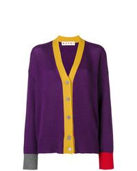 Cárdigan en violeta de Marni
