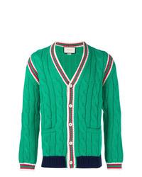 Cárdigan verde de Gucci