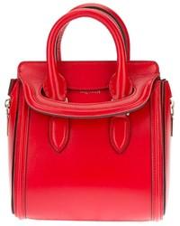 Cartera de cuero roja de Alexander McQueen