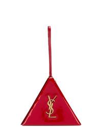 Cartera de cuero roja de Saint Laurent