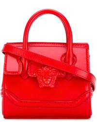 Cartera de Cuero Roja de Versace
