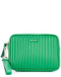Cartera Sobre de Cuero Acolchada Verde de DKNY