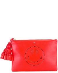 f8e46c29f Comprar una cartera sobre de cuero con estampado geométrico roja ...