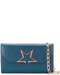 Cartera Sobre de Cuero de Estrellas en Verde Azulado de Golden Goose Deluxe Brand