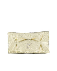 Cartera sobre de cuero dorada de Giuseppe Zanotti Design