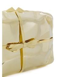 Cartera sobre de cuero dorada de Benedetta Bruzziches