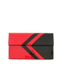 Cartera sobre de cuero en rojo y negro de Tomasini
