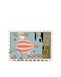 Cartera sobre de cuero estampada en multicolor de Charlotte Olympia
