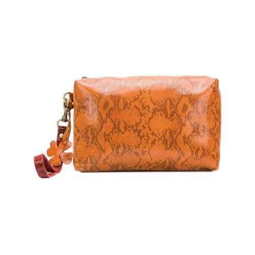 593cdf55a Cartera sobre de cuero naranja de Danielapi, MEX$5,512 | farfetch ...