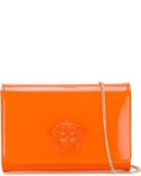Cartera Sobre de Cuero Naranja de Versace