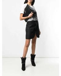 Cartera sobre de cuero negra de Saint Laurent