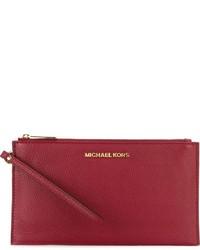Cartera sobre de cuero roja de MICHAEL Michael Kors
