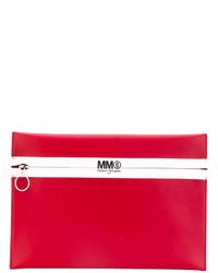 Cartera Sobre de Cuero Roja de MM6 MAISON MARGIELA