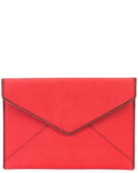 Cartera Sobre de Cuero Roja de Rebecca Minkoff