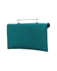 Cartera Sobre de Cuero Verde Azulado de M2Malletier