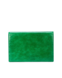 Cartera Sobre de Cuero Verde de Dvf Diane Von Furstenberg