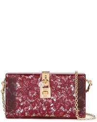 Cartera Sobre de Encaje Burdeos de Dolce & Gabbana