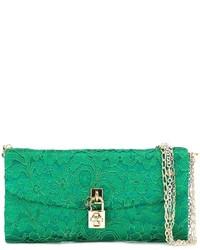 Cartera Sobre de Encaje Verde de Dolce & Gabbana