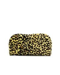 Cartera sobre de leopardo amarilla de Marni