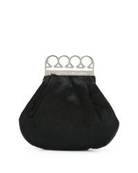 Cartera sobre de pelo negra de Jean Paul Gaultier Vintage