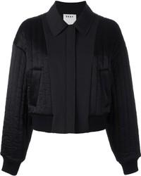 Cazadora de aviador acolchada negra de DKNY