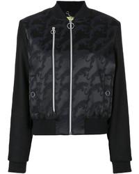 Cazadora de aviador bordada negra de Versace