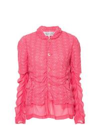 Cazadora de aviador bordada rosa de Comme Des Garçons Vintage