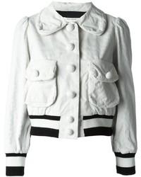 Cazadora de aviador de algodón blanca de Marc Jacobs