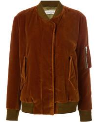 Cazadora de aviador de algodón marrón de Golden Goose Deluxe Brand