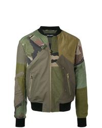 Cazadora de aviador de camuflaje verde oliva de Dolce & Gabbana