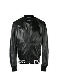 Cazadora de aviador de cuero negra de Dolce & Gabbana