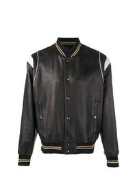 Cazadora de aviador de cuero negra de Givenchy